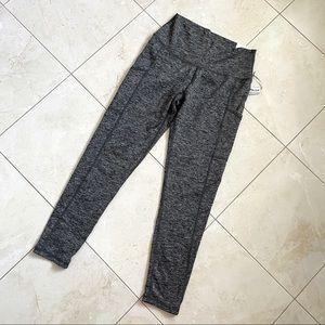 Aerie NWT High Rise Leggings Pockets Marl Grey L